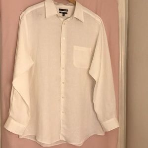 Murano Long-Sleeve Pure Linen Shirt Size 2XT